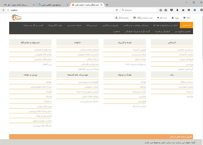 طراحی سایت ملی